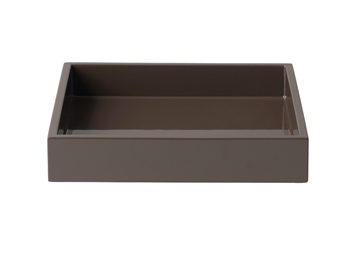 LUX Lacquer Tray 19*19*3,5 cm Dark Chocolate