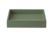 Lacquer Tray 19*19*3,5 cm Agave Green