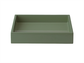 LUX Lacquer Tray 19*19*3,5 cm Agave Green