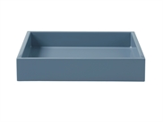 Lacquer Tray 19*19*3,5 cm Dusty Blue