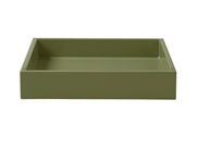 Lacquer Tray 19*19*3,5 cm Moss Green