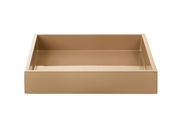 LUX Lacquer Tray 19*19*3,5 cm Nougat
