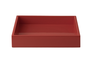 LUX Lacquer Tray 19*19*3,5 cm Burned Red
