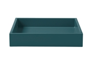 LUX Lacquer Tray 19*19*3,5 cm Petrol