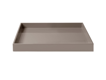 LUX Lacquer Tray 30*30*3,5 cm Warm Grey