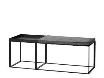 TEND Bench w. tray and cushion 110x40xH45 cm