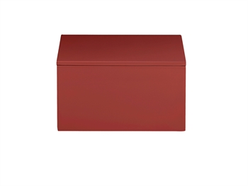 LUX Lacquer Box 19*19*10,5 cm Burned Red
