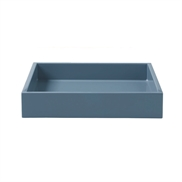 Lacquer Tray 19*19*3,5 cm Blue Steel