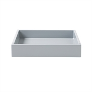 Lacquer Tray 19*19*3,5 cm Cool Grey