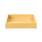 Lacquer Tray 19*19*3,5 cm Mellow Yellow
