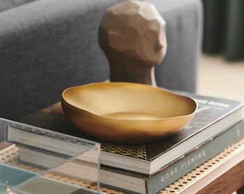 Wave Platter ø20*5 Brass, Matt Gold Patina