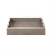 Lacquer Tray 19*19*3,5 cm Warm Grey